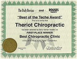 Chiropractic New Iberia LA Chiropractor Award